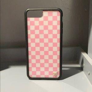 Checkered wildflower iPhone 6+ case